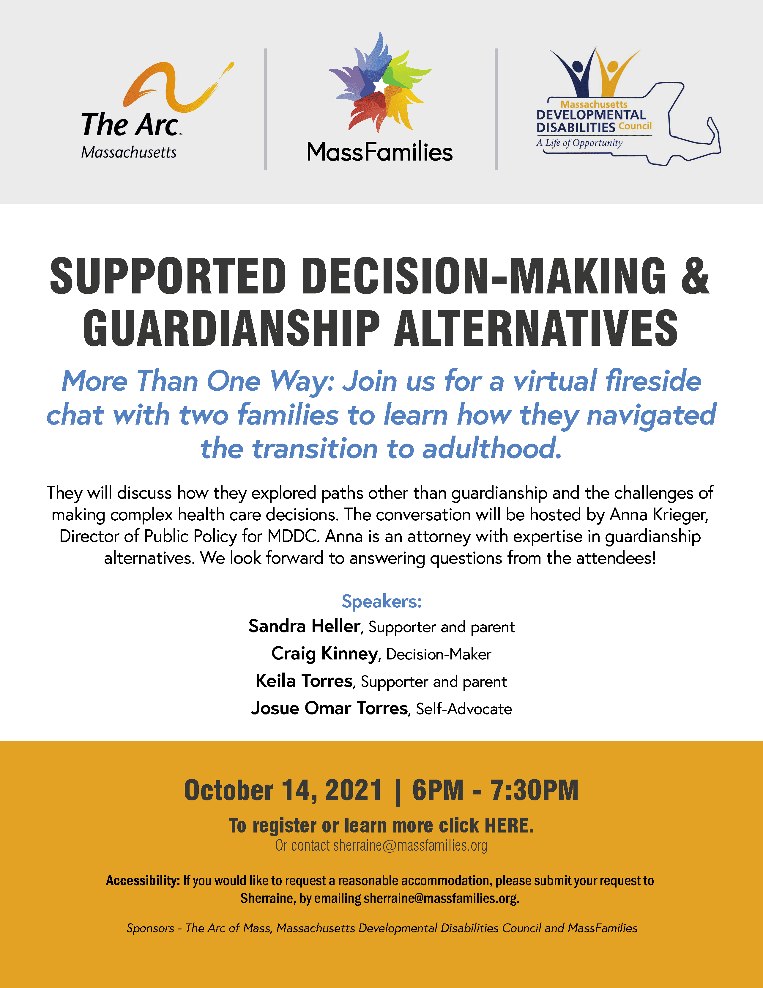 Supported Decision-Making and Guardianship Alternatives OCtober 14, 2021
