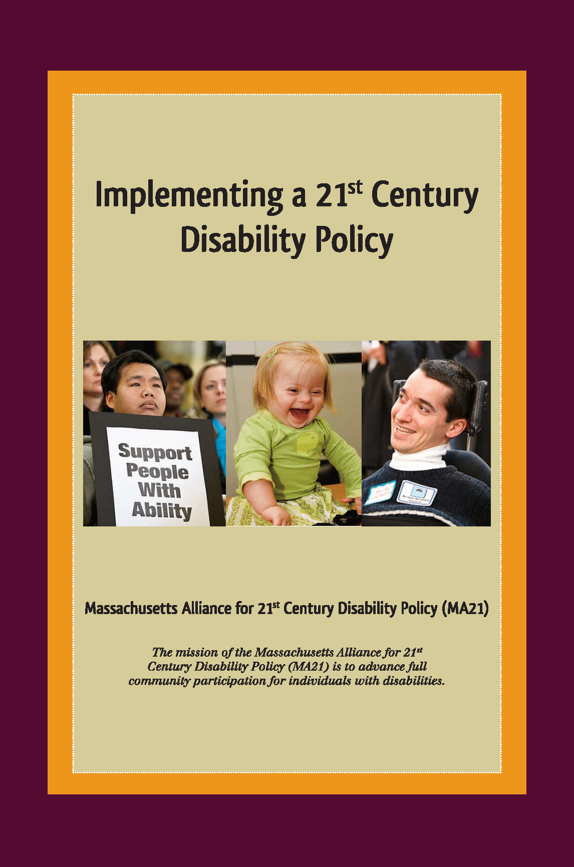 Cover: Implementing a 21st Century Disability Policy