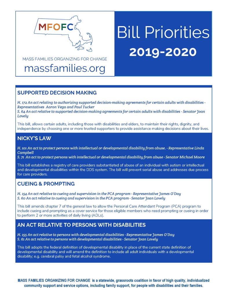 FY 2019 Bill Priorities