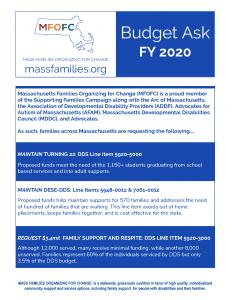 MFOFC FY19 Budget Asks