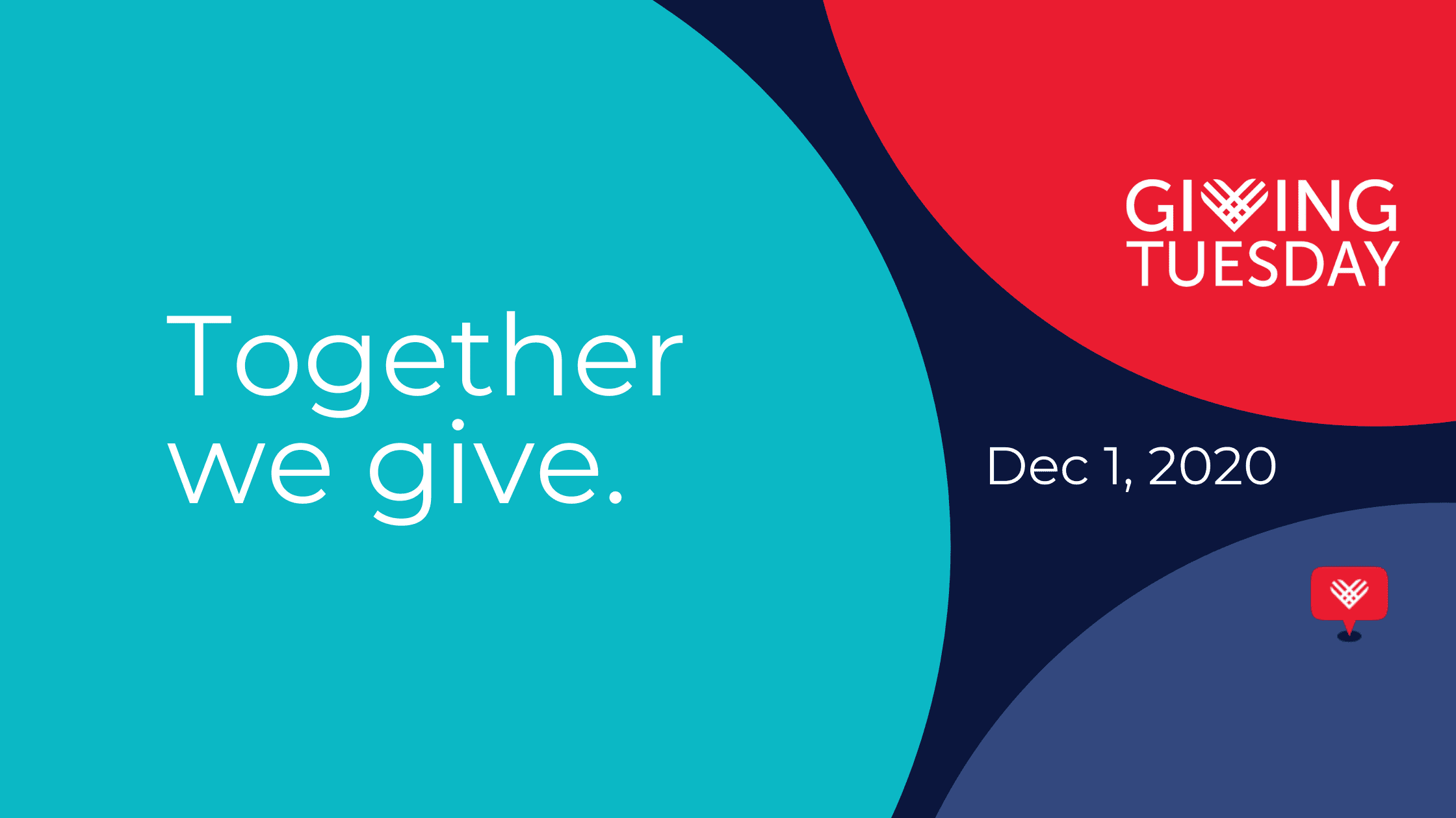 Together we give. Giving Tuesday 2020