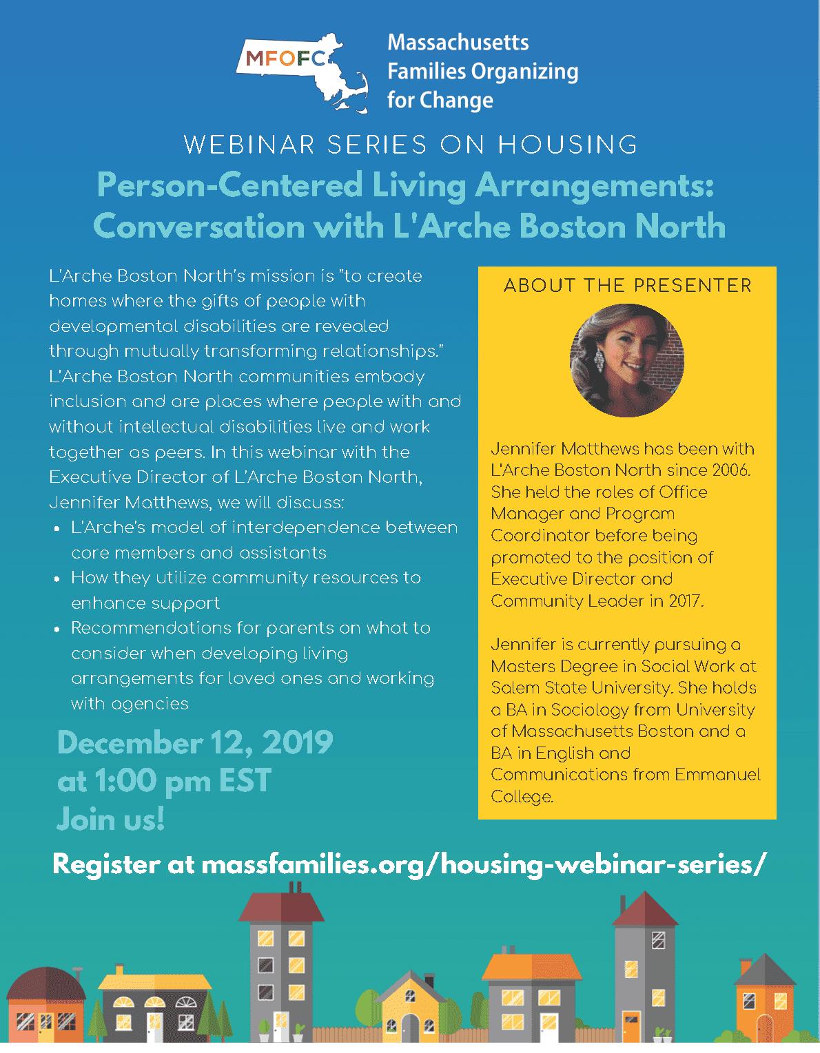L'Arche Boston North Dec 12 2019 MFOFC Housing Webinar