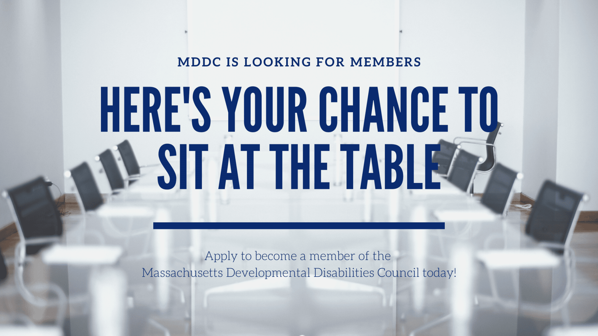 MDDC is looking for members