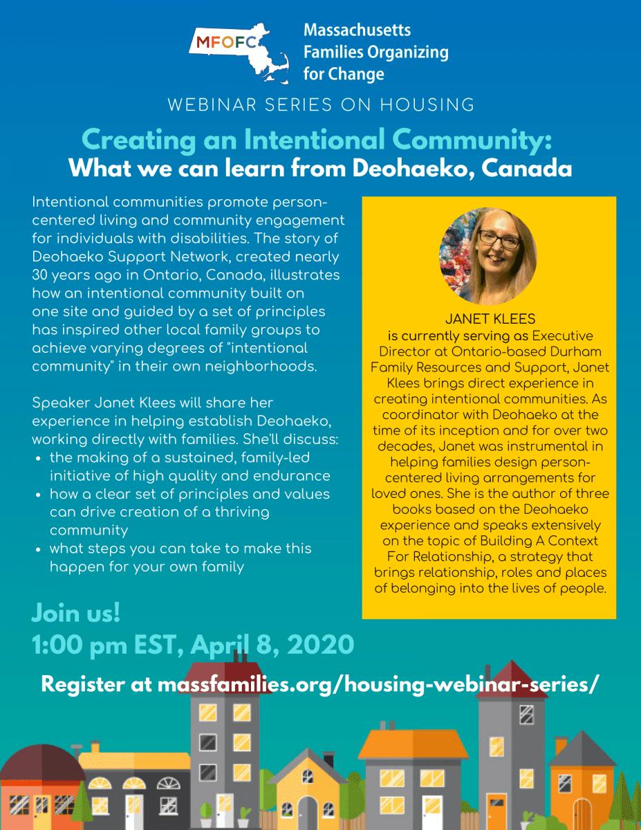 MFOFC Housing Webinar Creating an Intentional Community April 2020