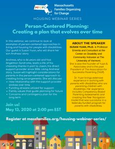 MFOFC Housing Webinar Person-Centered Planning that Evolves Over Time