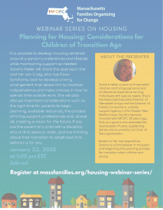 Planning for Housing Considerations for Children of Transition Age