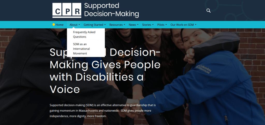 Screenshot: https://supporteddecisions.org/