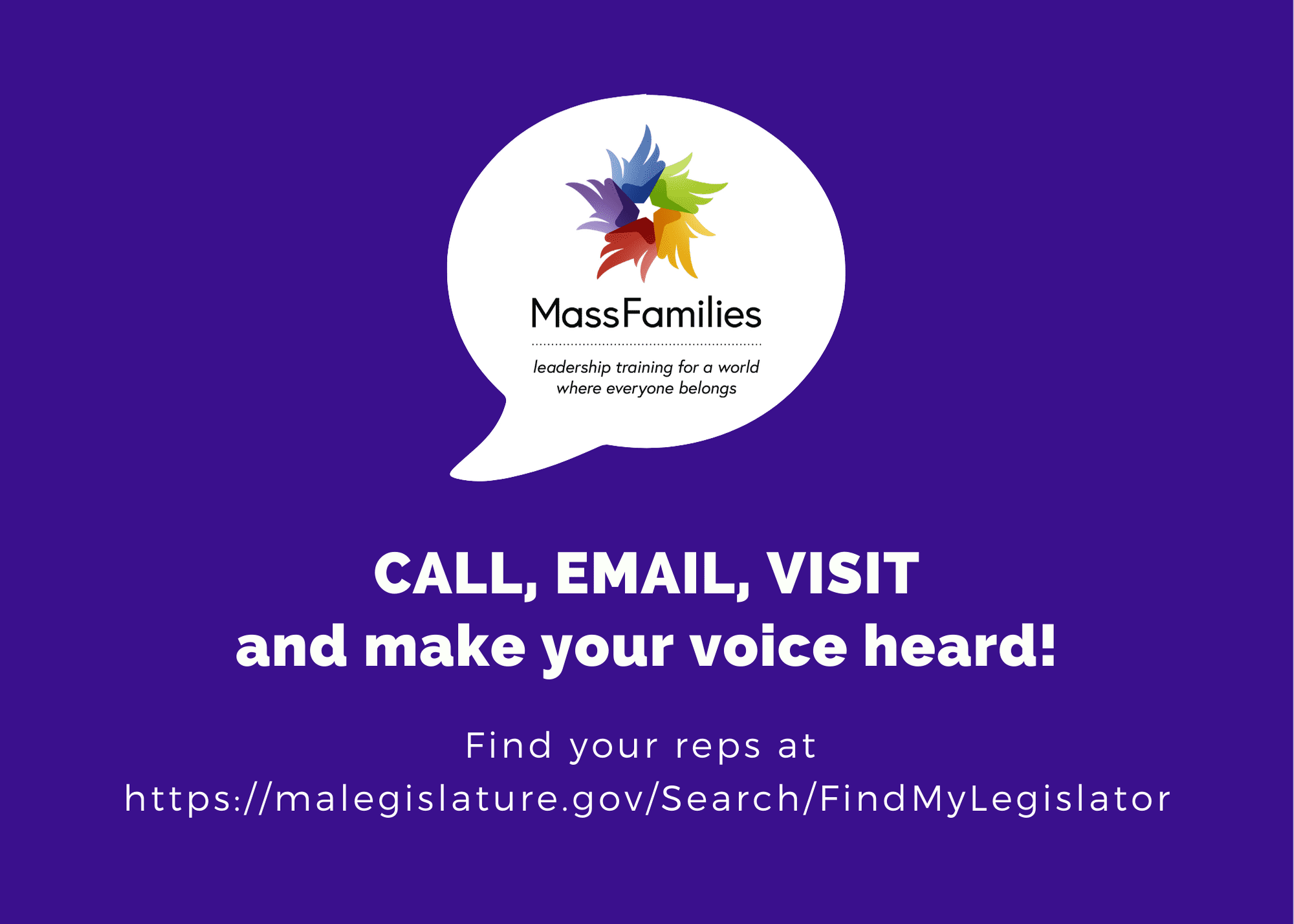 CALL EMAIL VISIT and make your voice heard