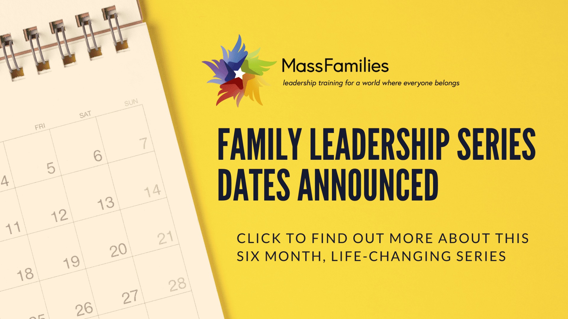 Family Leadership Series Dates Announced